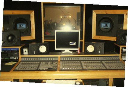 Boston Recording Studio Control Room